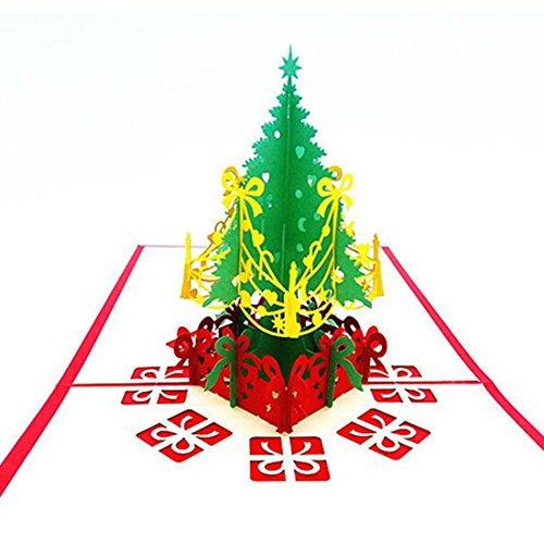 feliz navidad tarjeta de navidad 3d laser corte papel navidad tarjetas de felicitacin new - Tarjeta De Navidad En 3d