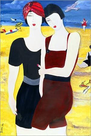 Posterlounge Hartschaumbild 120 x 180 cm: Mia Sorella, 2004 von Susan Adams/Bridgeman Images