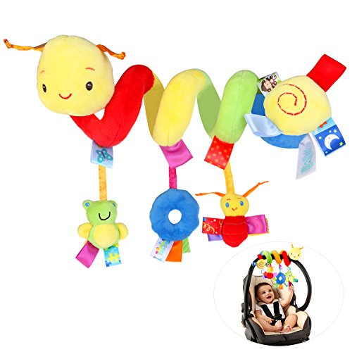 NUOLUX Kid Baby Crib Cot Pram Hanging Rattles Spiral Stroller Car Seat Toy with Ringing Bell by NUOLUX