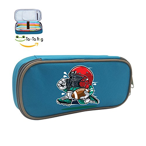 Cute Large Capacity Cool Canvas Pencil Case Pen Bag The Running Helmet Student blue