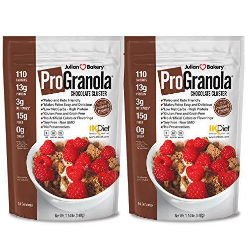 ProGranola Cereal | Chocolate | 13g Protein | Paleo | 3 Net Carbs | Gluten-Free | Grain-Free | 2 Pack by Julian Bakery (Image #3)
