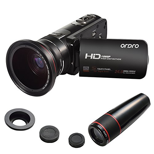 ORDRO Video Camcorder HD 1080P 3.0 Inches LCD Screen with...