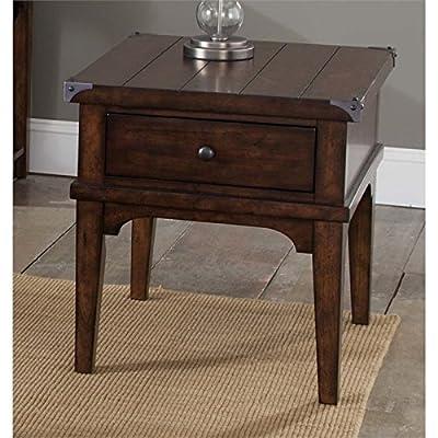 "Liberty Furniture 316-OT1020 Aspen Skies End Table, 23"" x 27"" x 24"", Russet Brown"