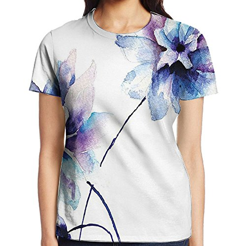 Buy now WuLion Elegant Flower Drawing with Soft Spring Colors Retro Style Floral Art Women's 3D Print