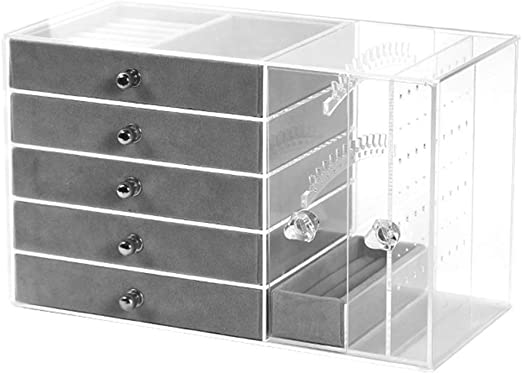 J.Mmiyi Joyero Caja Organizador con 5 Cajones para Mujer, Caja ...