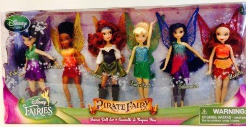Disney Pirate Fairy Set of 6 Dolls Tinkerbell Fairy Doll NEW