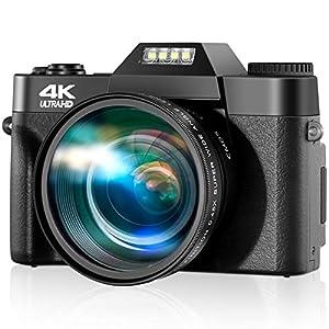 Flashandfocus.com 51mpG-lygDL._SS300_ 4K Digital Camera, 30fps Ultra HD Vlogging Camera, 48 Megapixel Video Camera for YouTube with 16X Zoom & Auto Focus, 3.0…