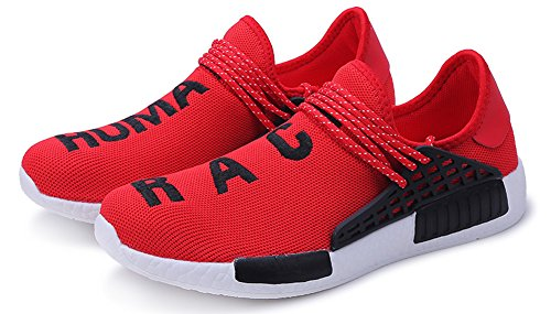 JiYe Shoes Men's Running Sneakers Red Flyknit Women's Fashion Free Transform wvqW7rqUpZ