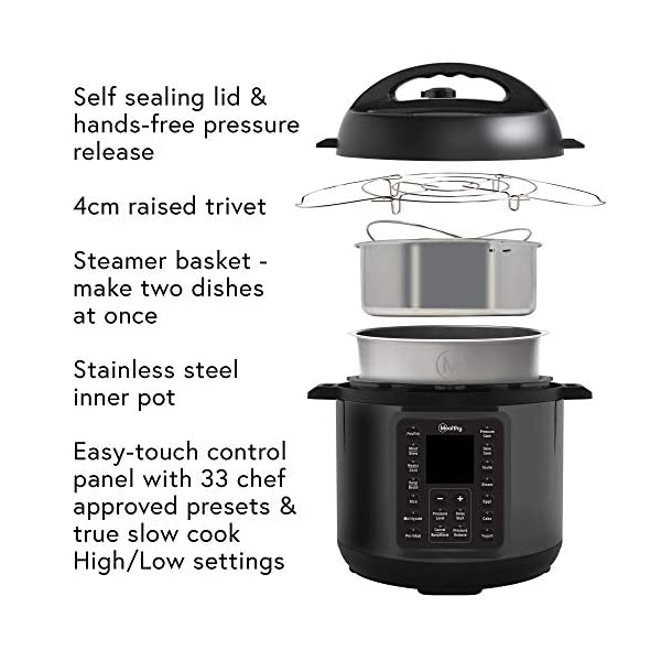 Mealthy MultiPot 9-in-1 Programmable Pressure Cooker with Stainless Steel Pot, Steamer Basket, Full Accessory Kit… 3