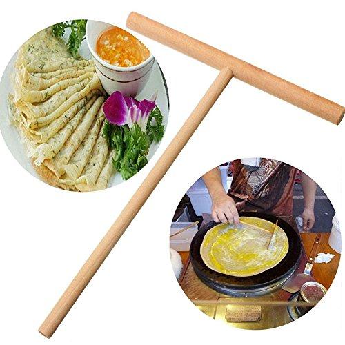 5 Pieces / Lot Crepe Maker Pancake Batter Wooden Spreader Stick Home Kitchen Tool Kit Diy (Mini Crepe Maker)