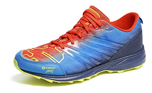 Icebug Men's Anima4 RB9X Trail Runner, Papaya/Eclipse, 13 M US