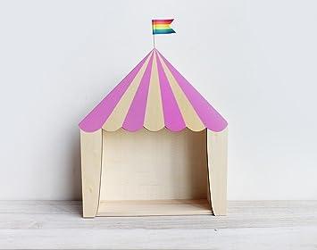 Kitzen Kinderzimmer Dekoration Holz Lagerung Zirkus Haus Regale Home ...
