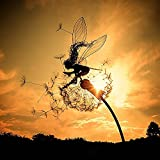Fairies and Dandelions Dance Together Garden Stakes