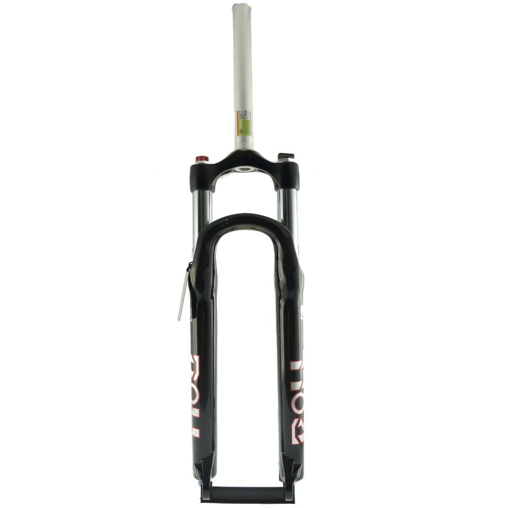 DFS MTB Bike Fork Disc Brake ROLL-RLC Xc Am Stanchion 30mm Lockout Rebound Mountain Bicycle Suspension Fork1912 (BLACK)