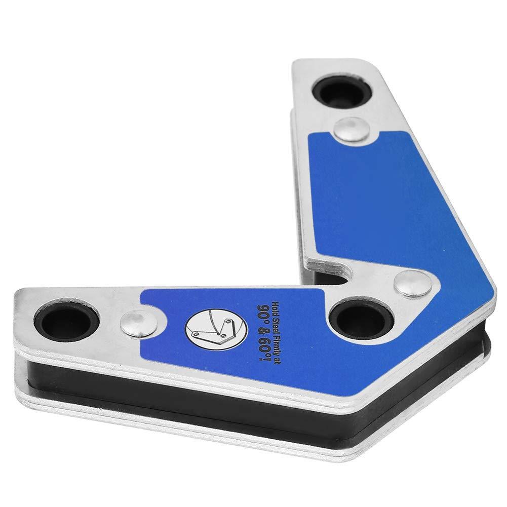 Blue 2pcs Support Magn/étique de Soudure Een Acier /à Double T/ête Support de Fl/èches de Soudure Outil de Support de Soudure de Localisateur Aimant Magn/étique Coin Soudeuse