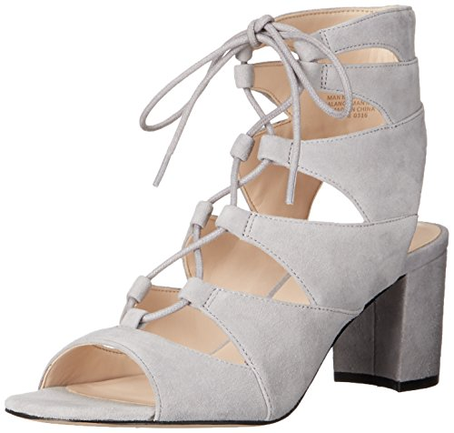 Nine West mujer takeitup Suede Heeled Sandal Gris/gris