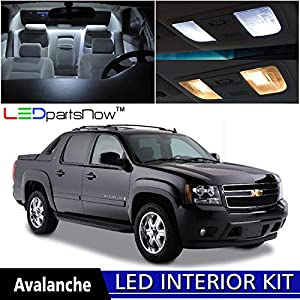 Ledpartsnow 2007 2014 Chevy Avalanche Led Interior Lights Accessories Replacement