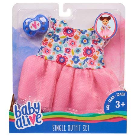 Baby Alive Single Outfit Set - Floral Dress, Multicolor