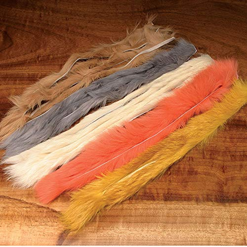 - Hareline Natural and Dyed Rabbit Strips Bright Purple