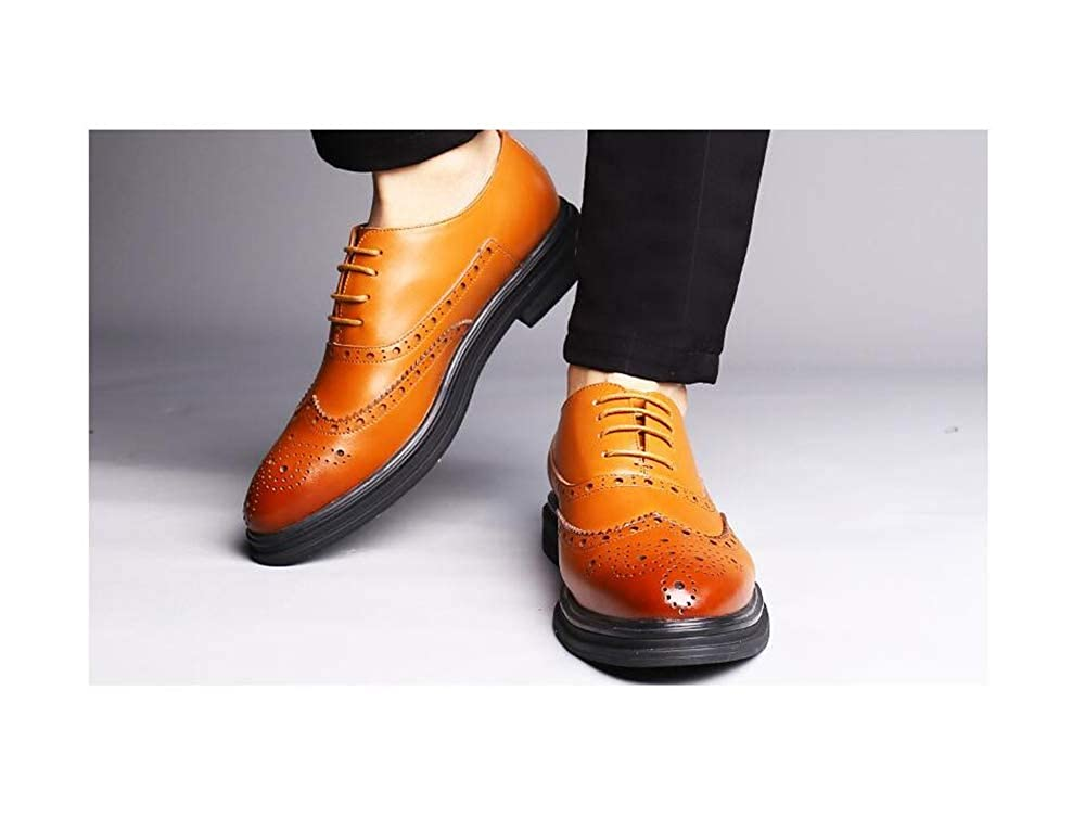 Mens Prince Classic Modern Oxford Wingtip Dress Shoes Busines Shoes