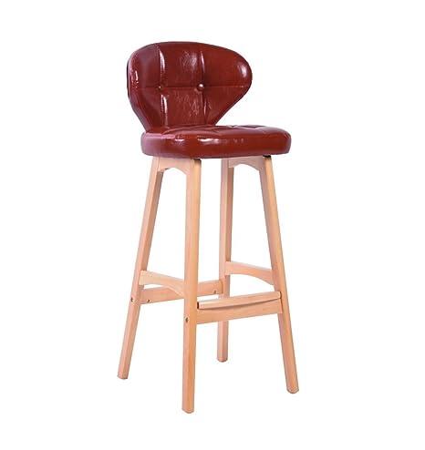 Amazon.com: Taburete de bar de madera maciza sillas cocina ...