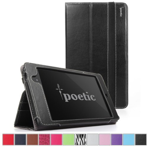 Google Nexus 7 2013 Case - Poetic Google Nexus 7 2013 Case [SlimBook Series] - [SlimFit] [Professional] PU Leather Slim Folio Case for Google Nexus 7 2nd Gen 2013 Black - Case Inch 7 Tablet Nexus
