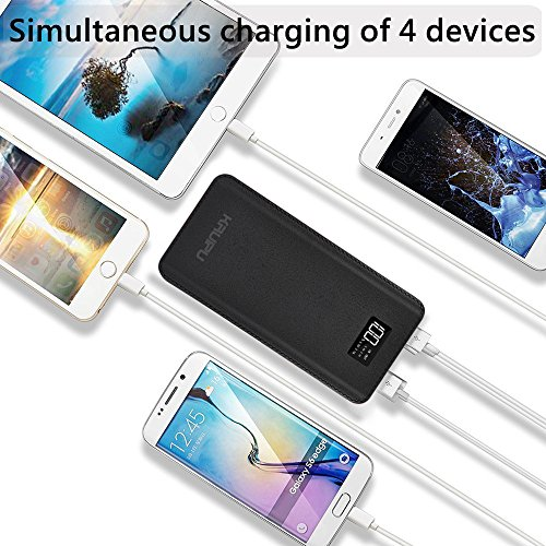 Power Bank 24000mAh Portable Charger Battery Pack 4 OutPut Ports Huge Capacity Backup Battery Compatible Smart Phone Almost All Android Phone And Others by KENRUIPU (Image #2)