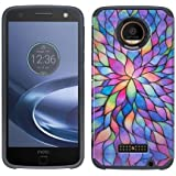 Motorola Z Force Droid Case, Z Force Droid [Shock Absorption / Impact Resistant] Hybrid Dual Layer Armor Defender Protective Case Cover for Verizon Moto Z Force Droid, (Rainbow Flower)