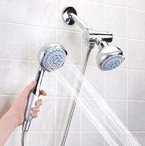 Deluxe Massager Shower Handheld Head Dual Delux Sunbeam Pressure Rain Multiple 5 Function Multi -