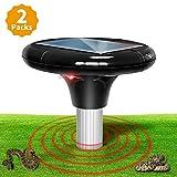 Sanspest Solar Powered Snake Repellent For Outdoors, Snake Away That's Safe For Dogs, Solar Snake Repeller, Snake Repellant For Yard, Garden (2 packs)