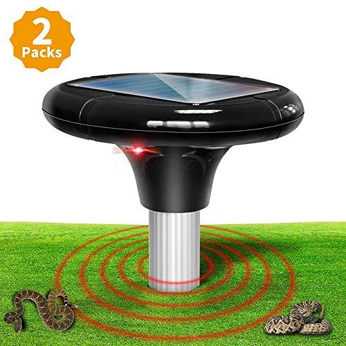 Sanspest Solar Powered Snake Repellent For Outdoors, Snake Away That's Safe For Dogs, Solar Snake Repeller, Snake Repellant For Yard, Garden (2 packs) by Sanspest