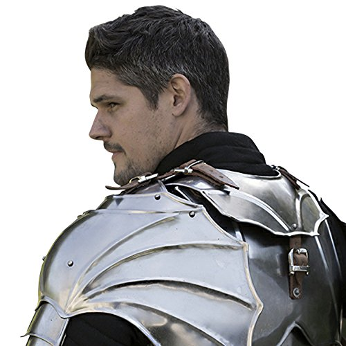 Armor Venue - Gothic Gorget with Pauldrons - Metallic - One Size Armour by Epic Armoury (Image #4)