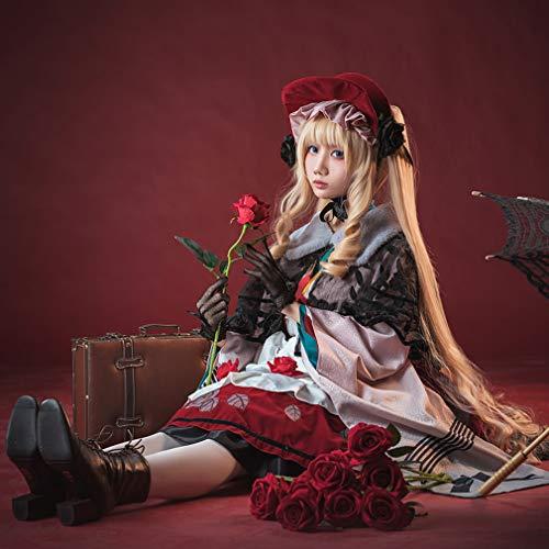 タコニャン ローゼンメイデン コスプレ衣装 15周年大正ロマン風 ロリータ風 和風 真紅 ワンピース cosplay コスチューム