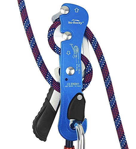 Ito Rocky Climbing Stop Descender Rappelling Anti-Panic Belay...