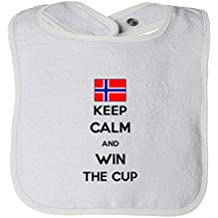 Cute Rascals Norway Keep Calm Win The Cup Soccer Tot Contrast Trim Terry Bib