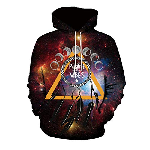 Big Sales, Anewoneson 2019Men's Mode 3D Abstract Print Long Sleeve Couples Hoodies Red ()
