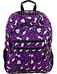 Eastsport Future Tech Backpack With Fully Padded Electronic Storage Pocket - Purple Leopard
