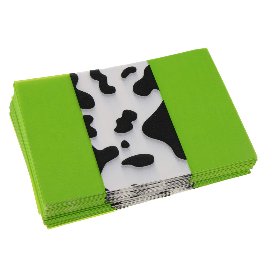 Homyl Pack of 1000 Sheet Christmas Wedding Gift Candy Wrapping Wax Tissue Paper - Black Dairy Cattle - Green, 9x12.5 cm