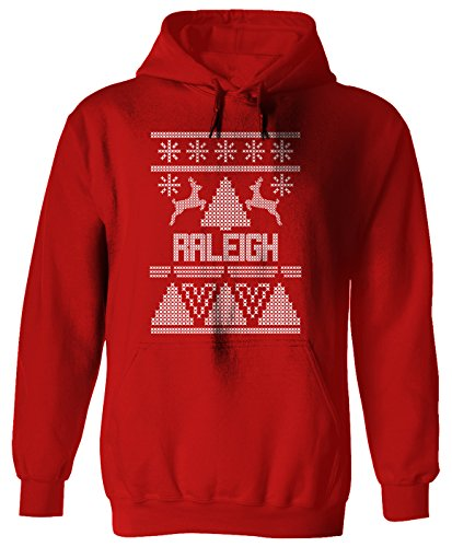RALEIGH Ugly Sweater Christmas Holiday Adult Hoodie XL Red - Raleigh Limited Clothing