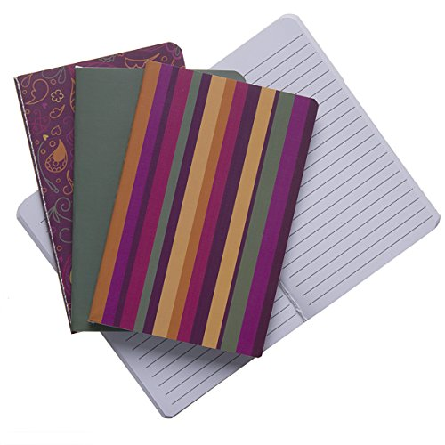 Mini Journal Set (4 Mini 4x6 Journals Set Lined Writing Composition Notebooks Diary Multi-Pack Stitched Edge Travel)