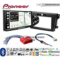 Volunteer Audio Pioneer AVIC-W8400NEX Double Din Radio Install Kit with Navigation, Apple CarPlay and Android Auto Fits 2010-2012 Mazda CX-7