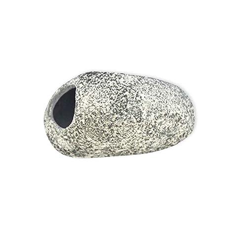 Omkuwl Decoración de la piedra de la cueva de cerámica del acuario para el diseño especial