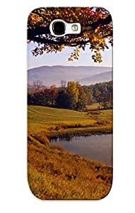 EghHGwC5851zCeQY Case Cover Hillside Lake Compatible With Galaxy Note 2 Protective Case