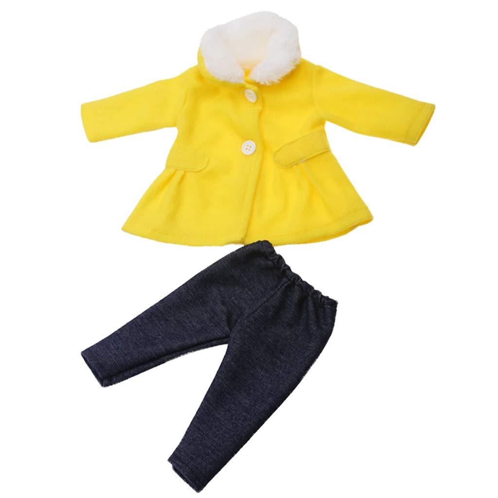 Manteau Rose MagiDeal V/êtements de Poup/ée en Tissu Mini-poup/ées Accessoire pour Fille Doll 18 Pouces Pantalon