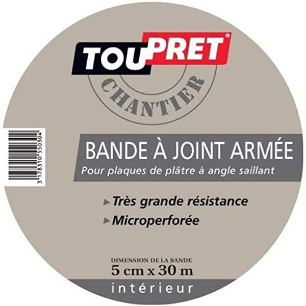Toupret bajar0530 banda para juntas ejércitos 5 cm * 30 m, Color blanco: Amazon.es: Bricolaje y herramientas