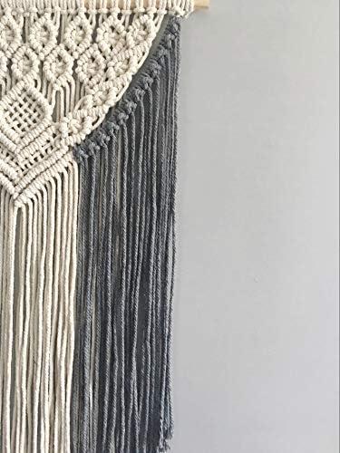 hochwertig handgeknotet H/änger Accessoire Schmuck Ornamente Livslyst 3er Makramee Anh/änger Set Rucksack f/ür Christbaum Boho Dekoration Deko H/änger Handtasche R/ückspiegel Tasche beige Holz-Ring