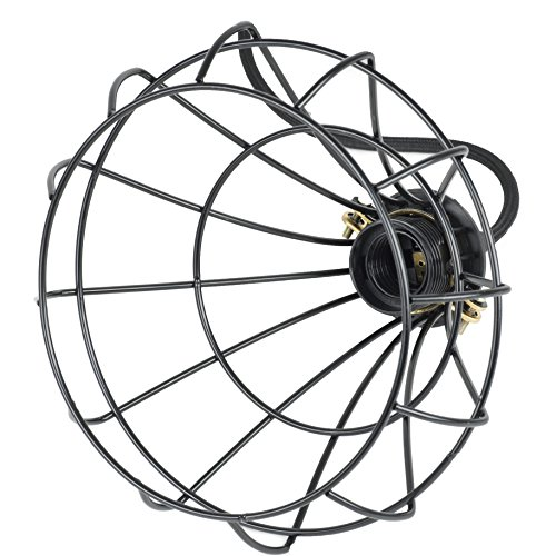 Industrial-Vintage-Style-Light-Cage-Lampshade-for-Pendant-Light-Lamps-Black