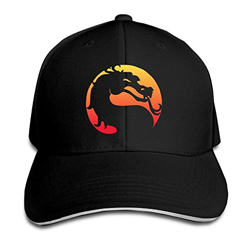 Chalk Logo Mortal Kombat Video Game Franchise Adjustable Unisex Hats Visor Hat Sanwich Bill Caps
