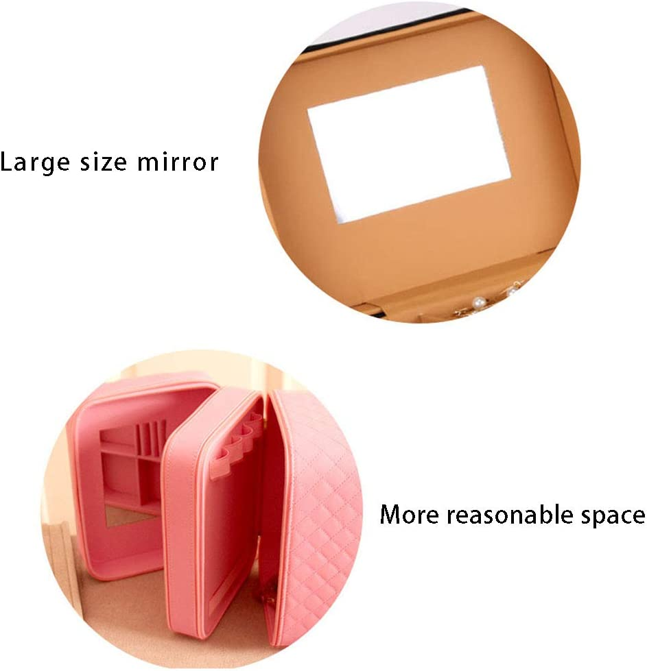 Vanity Maquillage 24 * 18.5 * 23CM Rose Miaoshoping Trousse Toilette Voyage Grande Capacit/é /Étanche Cosm/étique Valise Beauty Case