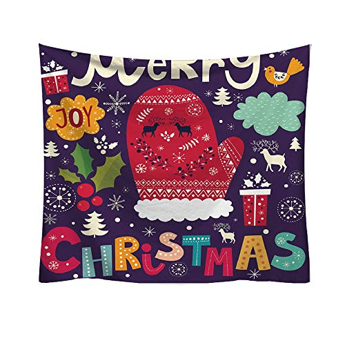 Claus Tapestry - AKwell Christmas Fashion Tapestry Santa Claus Style Cartoon Pattern Style Decorative Tapestry Home Decor